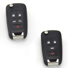 4/5 Button Remote Black Leather Car Key Shell Case Cover  Holder Keychain Bag For CHEVROLET BUICK #6731 6732