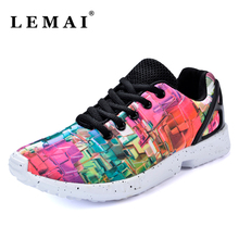 LEMAI Unisex Women 3D Print Sneakers Shoes For Men Athletic Sports Shoes Women Outdoor Running Shoes