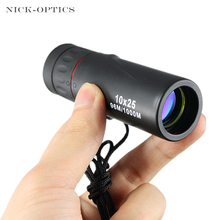 10x25 HD Monocular Professional telescope daul focus Green Film Pocket spyglass for hunting High Quality Tourism Scope(China)