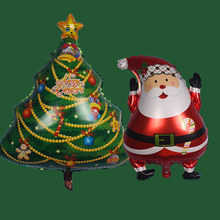 cartoon Christmas tree foil balloons Santa Claus helium balloon merry Christmas decoration inflatable classic toys