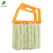 Useful Microfiber Window Cleaning Brush Air Conditioner Duster Cleaner with Washable Venetian Blind Brush Clean Cleaner