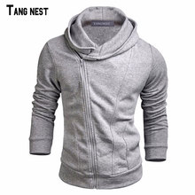 TANGNEST Men Hoodies 2017 New Design Male Solid Casual Fleece Sweatshirt Suit Men's Slim Fit Zipper Popular Coat Size MWW883