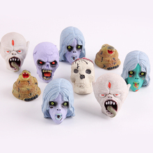 Sent Random Hot Sale Creative Novel PVC Inflation Water Ghost Head Gags Practical Jokes Fun Halloween Games Action Figure Toys