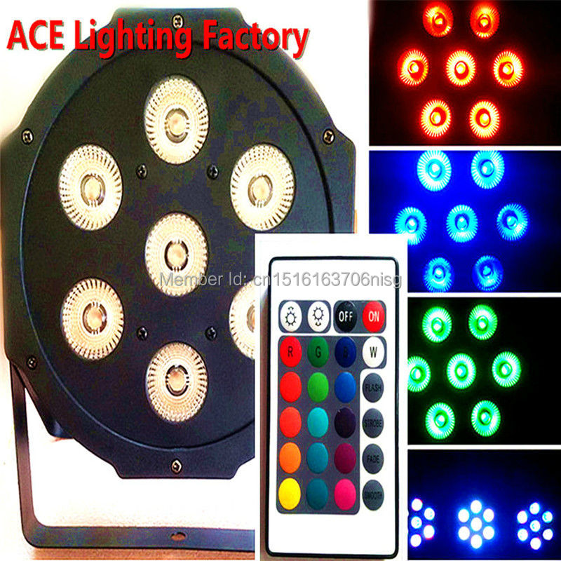 Wireless remote control LED Par 7x12W RGBW 4IN1 LED Wash Light Stage Uplighting  Free&amp;Fast shipping<br>