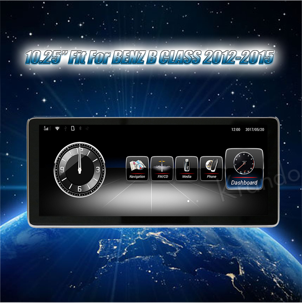Krando 10.25'' android car radio multimedia for BENZ B CLASS 2012-2015 Big screen navigation with gps system (6)