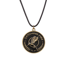 the hunger games catching fire necklace vintage retro bird pendant for men and women wholesale