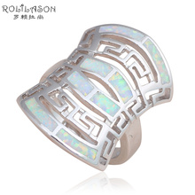 Huge Ring Special designer Fashion Jewelry White Fire Opal Silver Stamped Wholesale & Retail Rings USA #6#7#8#9 OR739