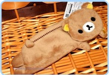 12PCS Kawaii NEW Side Lying Rilakkuma Bear Coin Cash Purse & Wallet Pouch BAG Case Holder ; Gift Case