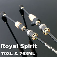 ROYAL SPIRIT 703 L & 763 ML Fast Action Spinning & Baitcasting Fishing rod 3 Sections Free Shipping(China)