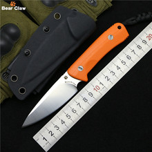 Bear claw Original Nettle fixed blade knife D2 steel G10 handle outdoor hunt survival pocket kitchen knives camping edc tool(China)