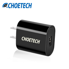 CHOETECH Portable USB Charger US Plug 2.4A Travel Wall Universal Tablets Charger Adapter for iPad for Xiaomi Tablet Accessories(China)