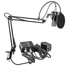 Neewer NW-700 Professional Condenser Microphone&Scissor Arm Stand+XLR Cable+Mounting Clamp&Pop Filter&48V Phantom Power Supply(China)