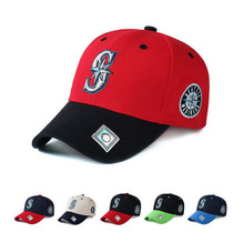 Letter S Adjustable Cap Men Women Outdoor Sports Hat Solid Fashion Seattle Mariners Snapback Casual Gorras Hip Hop Baseball Cap