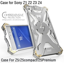 Original Design Armor Heavy Dust Metal Aluminum THOR IRONMAN phone bag cover case For Sony Xperia Z1 Z2 Z3 Z4 Z5 Compact Premium