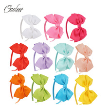 11pcs/lot High Quality Solid Hairbands Princess Hair Accessories Big Bows Plastic Hairband Girl Headband Hair Accessories()