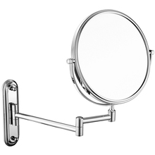 Bathroom Wall Retractable Folding Magnification Mirror Beauty Makeup Double-Sided Shaving Mirror,Times Magnifying Glass Effect.