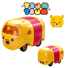 Disney Cartoon movies Toys Tomica Tomy Tsum Tsum 1:64 Scale Cute Mini Winnie Diecast Metal Toys Car For Kids Christmas Gift(China)