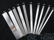 Free Shipping 12pcs/lot different sizes High Speed Steel lathe hss tool bits, Flat HSS Turning Blades, Length 200mm(China)