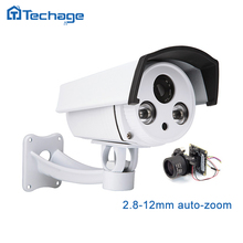Techage Auto Zoom HD SONY 1080P IP POE Camera 2.8-12mm Zoom Lens 2MP Outdoor IR Array P2P ONVIF CCTV Security Video Surveillance