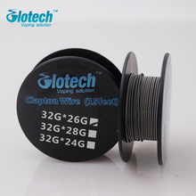 5m/roll 32G*26G(0.2mm*0.4mm) Glotech Clapton Wire heating wire for RDA RBA Rebuildable Atomizer Coil E-Cigarette Vaporizer coils