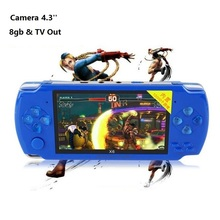 "4.3"" Handheld Game Console 8gb MP4 Player TV Out Game Player Support For Camera Video E-book Games TF Card MP3 Player"