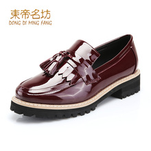 Creepers Pu Dress Solid Shoes For Rushed Special Offer Modern Woman Patent Type Chaussure Decoration B01-3