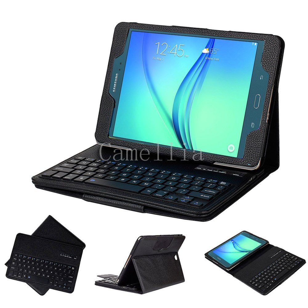 Ultra Slim Detachable Bluetooth Keyboard Portfolio Leather Case Cover for Samsung Tab a 9.7 Inch T550 Tablet 2015 Edition<br><br>Aliexpress