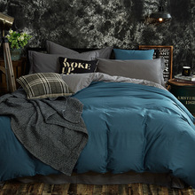 Simple Modern Design 100% Cotton Bedding Set Twin Full Queen King Duvet Cover Bed Flat/Fitted Sheet Pillowcase 3/4pcs Bed Set