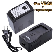 1Pcs VW-VBG6 VBG6 rechargeable Battery + Rapid Charger for Panasonic AG-HMC154ER AG-HMC154GK AG-HMC154P AG-HMC155 AG-HMC155GK