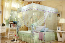 4 Corners Poster Canopy Curtain Mosquito Net Twin-XL Full Queen King No Bracket With 22mm Bracket(China)