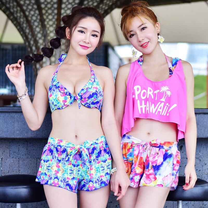 Swimming Suit For Women Female Swimwear Woman Swimsuit 2017 New Bikini Ladies Plus Size Push Up 16 Sports Four Piece Biquini<br><br>Aliexpress