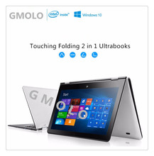 "11.6"" rotating touch screen laptop 4GB 64GB Z8300 Quad core super slim Windows 10 ultrabook notebook"