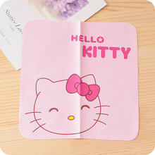 New Pink Kitty Portable Glasses Cleaner Cloth.Fabric Mobile Phone Camera Wipes Computer Lcd Monitor Ipad Cleaning Cloth Laptop(China)
