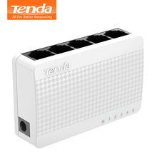 Tenda S105 Ethernet Switch,Mini 5 Port Desktop Ethernet Network Switch,100Mbps LAN Hub,Small and Smart,Plug and Play,Easy Setup