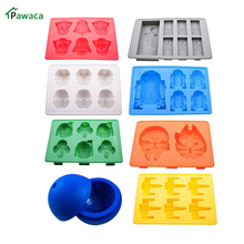 8Pcs Cake Mold Star Wars Ice Tray Silicone Balls Maker Tray Mold Cube Chocolate Fondant Mold Cake Cookie Cupcake Baking Trays