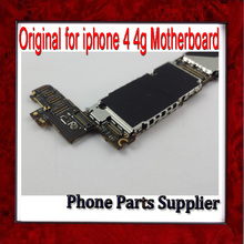 100% Original & Unlocked for iphone 4 Mainboard,16g For iphone 4 Motherboard with Chips,for iphone 4g Motherbaord Free Shipping(China)