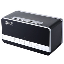 MUSKY DY - 27 Bluetooth 3D surround stereo Speaker powerful bass rich audio LED Display Clock Alarm FM Radio Support AUX TF Card