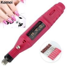 1set 6bits 20000rpm Professional Electric Manicure Machine Nail Drill art Pen Pedicure File Polish Shape Tool Feet Care Product(China)