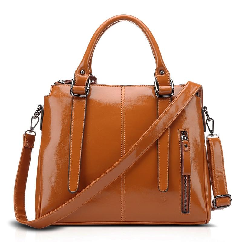 High Quality PU Leather Wax Oil Leather Bags For Ladies Women Totes Handbags Vintage Women Shoulder Messenger Bag Bolsa Feminina<br><br>Aliexpress