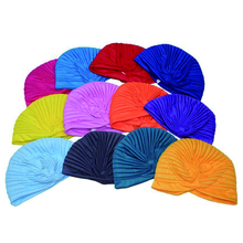 WomensDate 19 Color Indian Cap For Women Turban Hats Women's Head Wrap Band Hat Beanies Stretchy Chemo Bandana Hijab 1Pcs