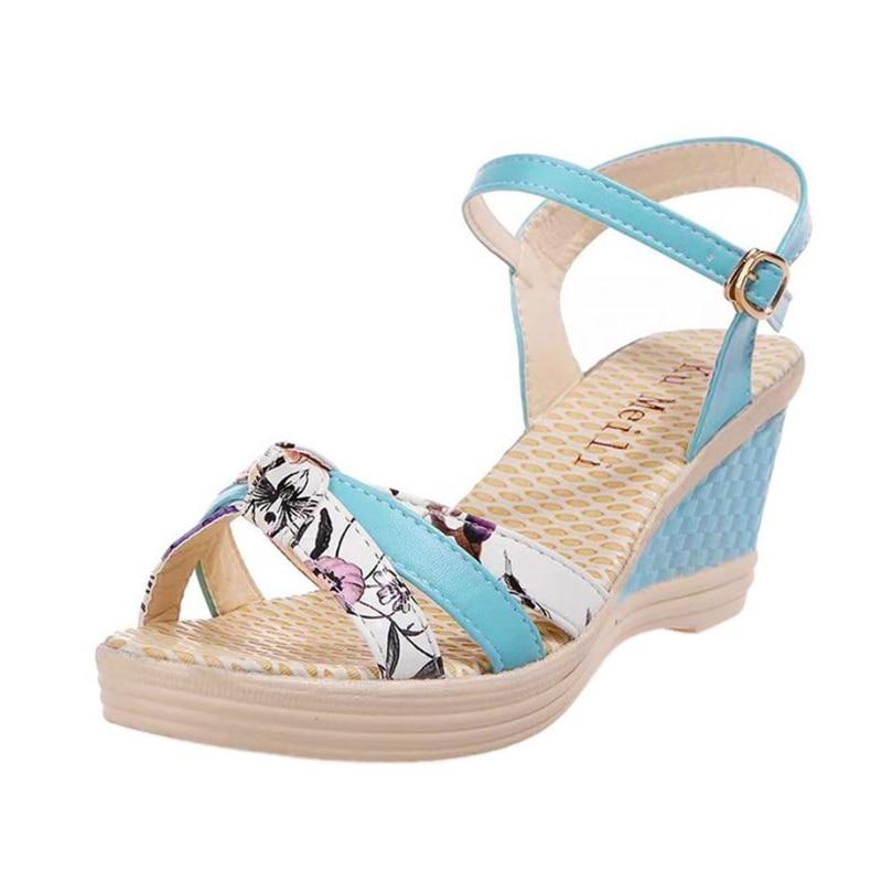 Ladies Women Wedges Shoes Summer Sandals Platform Toe High-Heeled Shoes O0530#3011