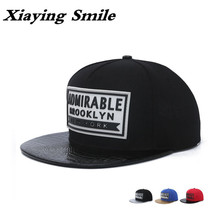 Xiaying Smile Snapback Adjustable Men Women's Baseball Caps Hip Hop Hat Casual New Fashion Snap Back Rubber Letter Flat Edge Cap
