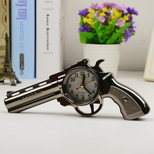 NEW Creative Pistol Alarm Clock  Home Decor Cheap Price Desk Table Clocks Table Decorations Free Shipping