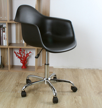 Modern Design Plastic and Steel Swivel Office computer Chair with 5 Wheel Plastic shell chair swivel chair with gas lift(China)