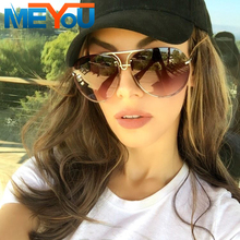 MEYOU 2017 Women Oversized Aviation 8478 Sunglasses Women Men Driving New Fashion Brand Designer Clear Red Female Sun Glasses