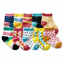 Baby hosiery kd socks 20pcs=10pairs baby socks anti slip character cotton socks novelty shoe gifts for baby boy and girl slipper(China)