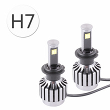 New All-in-one design 60W 6,000Lm H7 Cree Chips LED Headlight Bulbs Conversion Kit For Car Auto Motorcycle Bikes 30W Each Bulb(China)