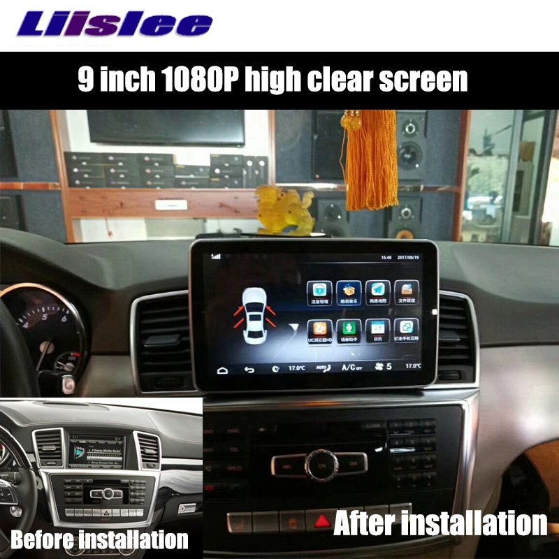Liislee Car Multimedia Player NAVI For Mercedes-Benz MB ML GLE M Class W166 2011~ 2017 Car Radio Stereo GPS Navigation 2