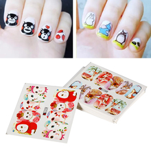 3D Image 24 Sheet Nail Art Animal Water Transfer Printing Sticker Set Watermark Fingernail Decal DIY Stamping UV Gel Accessories(China)