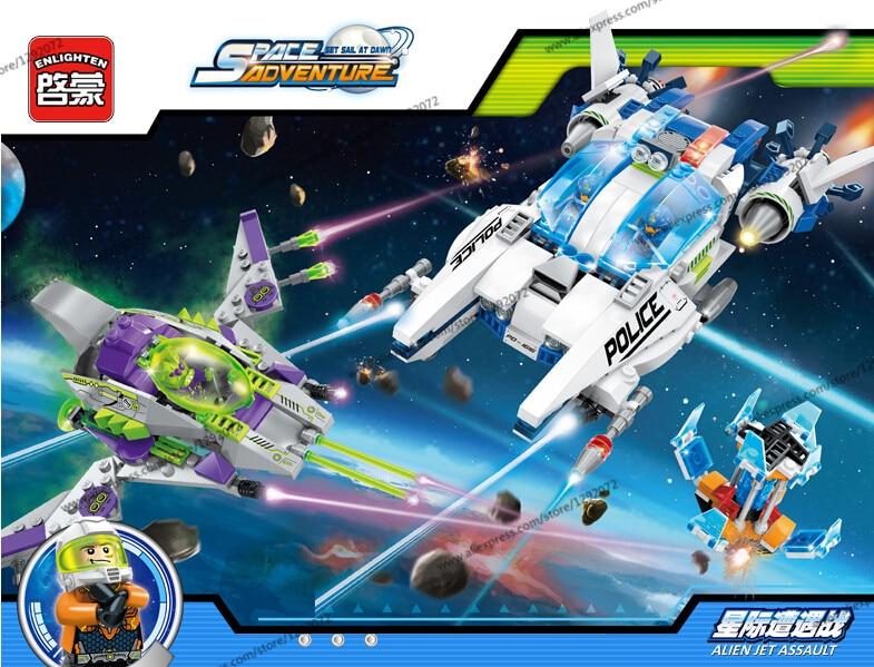 New Model building kits compatible with lego star wars alien jet assault 3D blocks Educational toys hobbies for children<br>